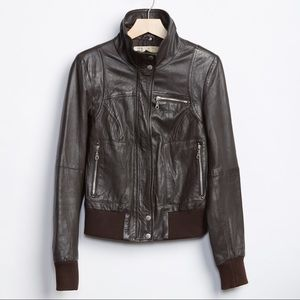TRF Leather Collection Bomber Jacket